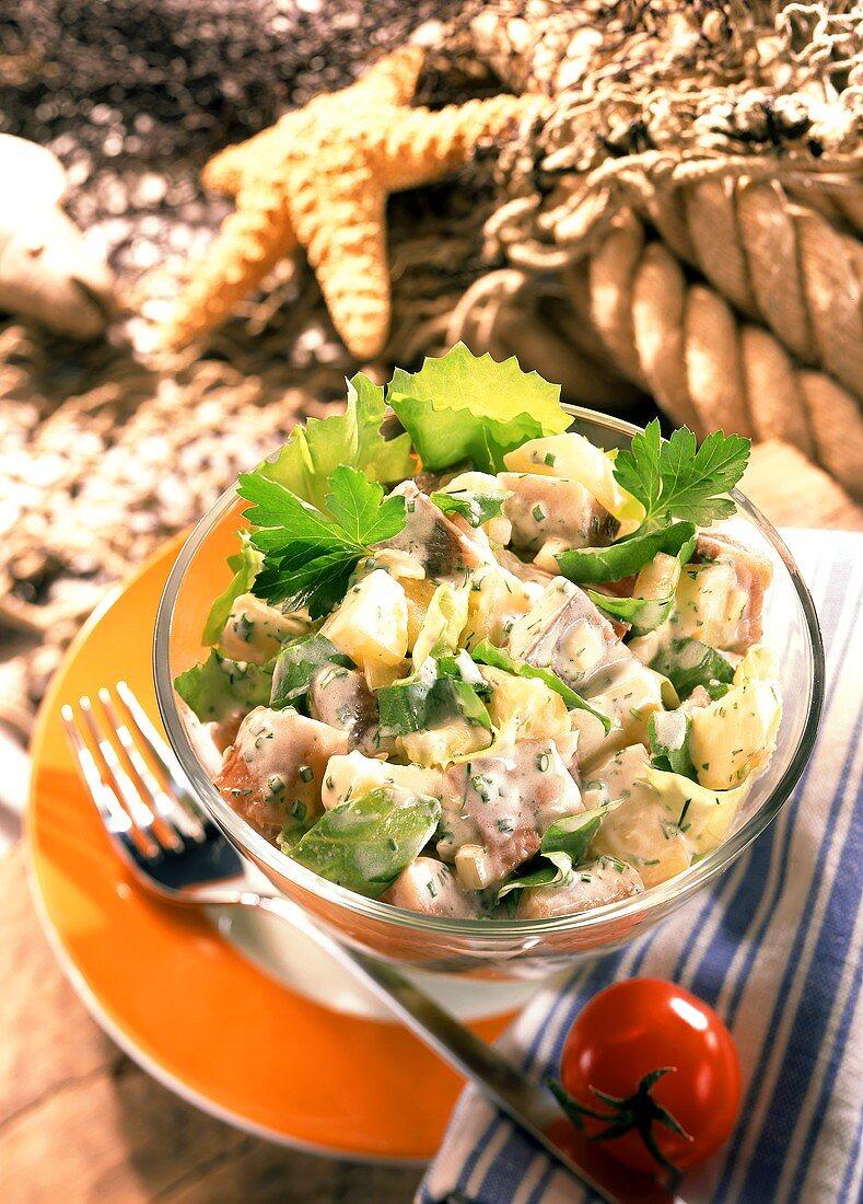 Matje herring and potato salad
