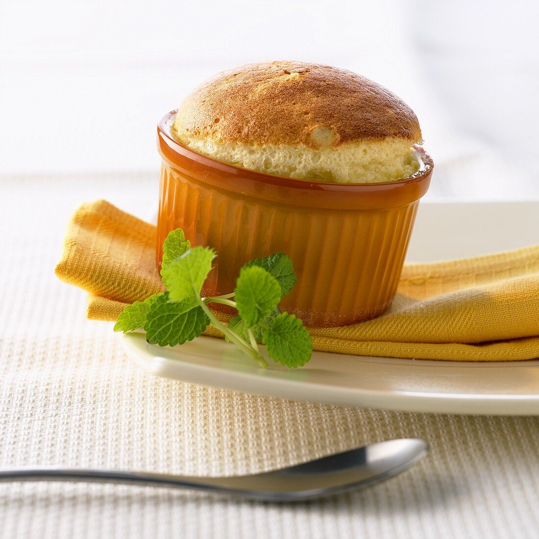 Grand Marnier soufflé in small moulds