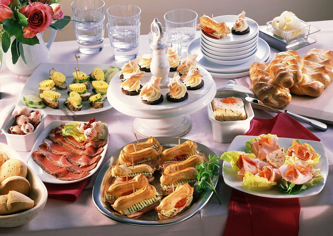 Buffet of snacks and appetisers