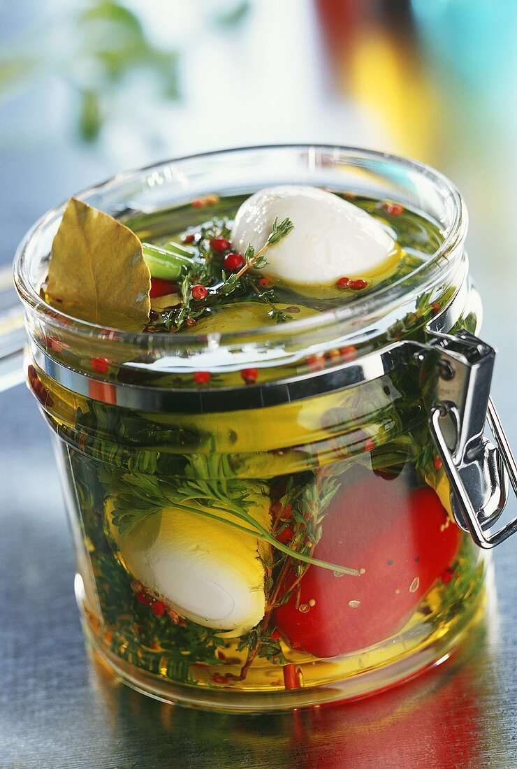 Pickled vegetables and mozzarella