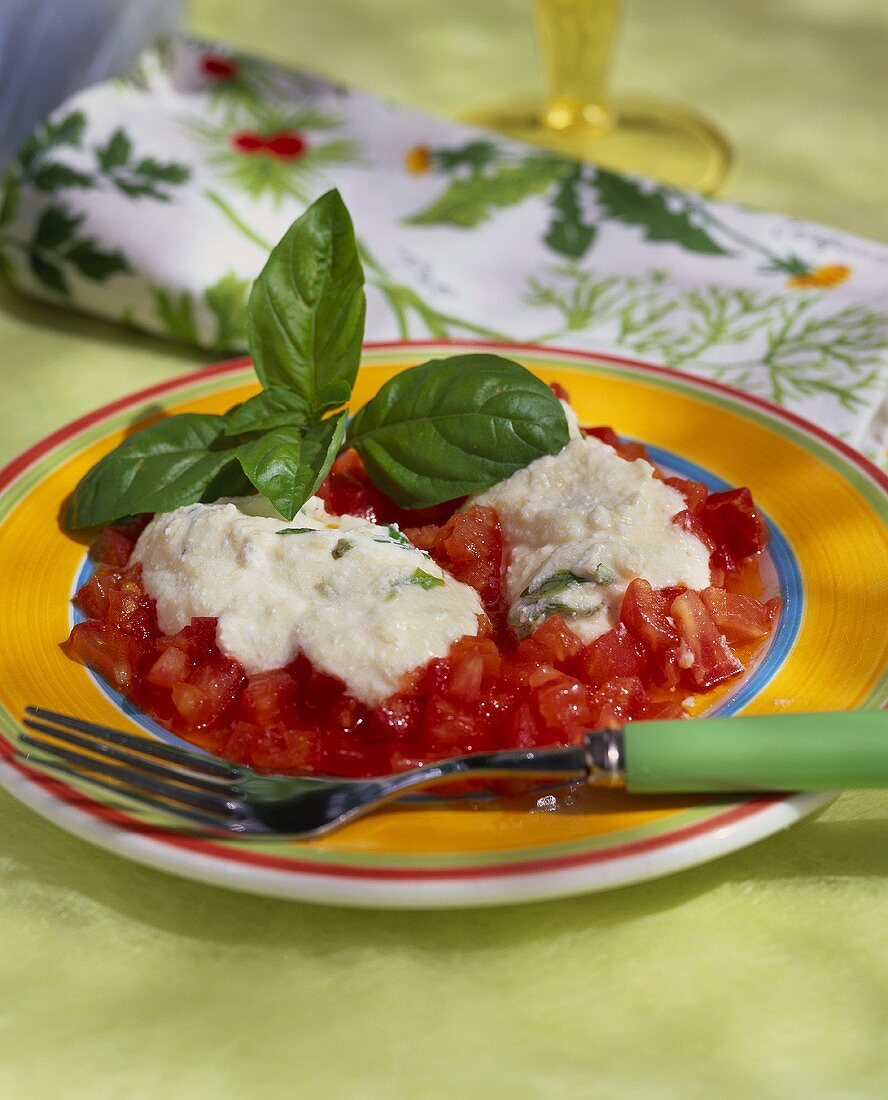 Quenelle de Brousse (Corsican sheep's cheese balls with basil)