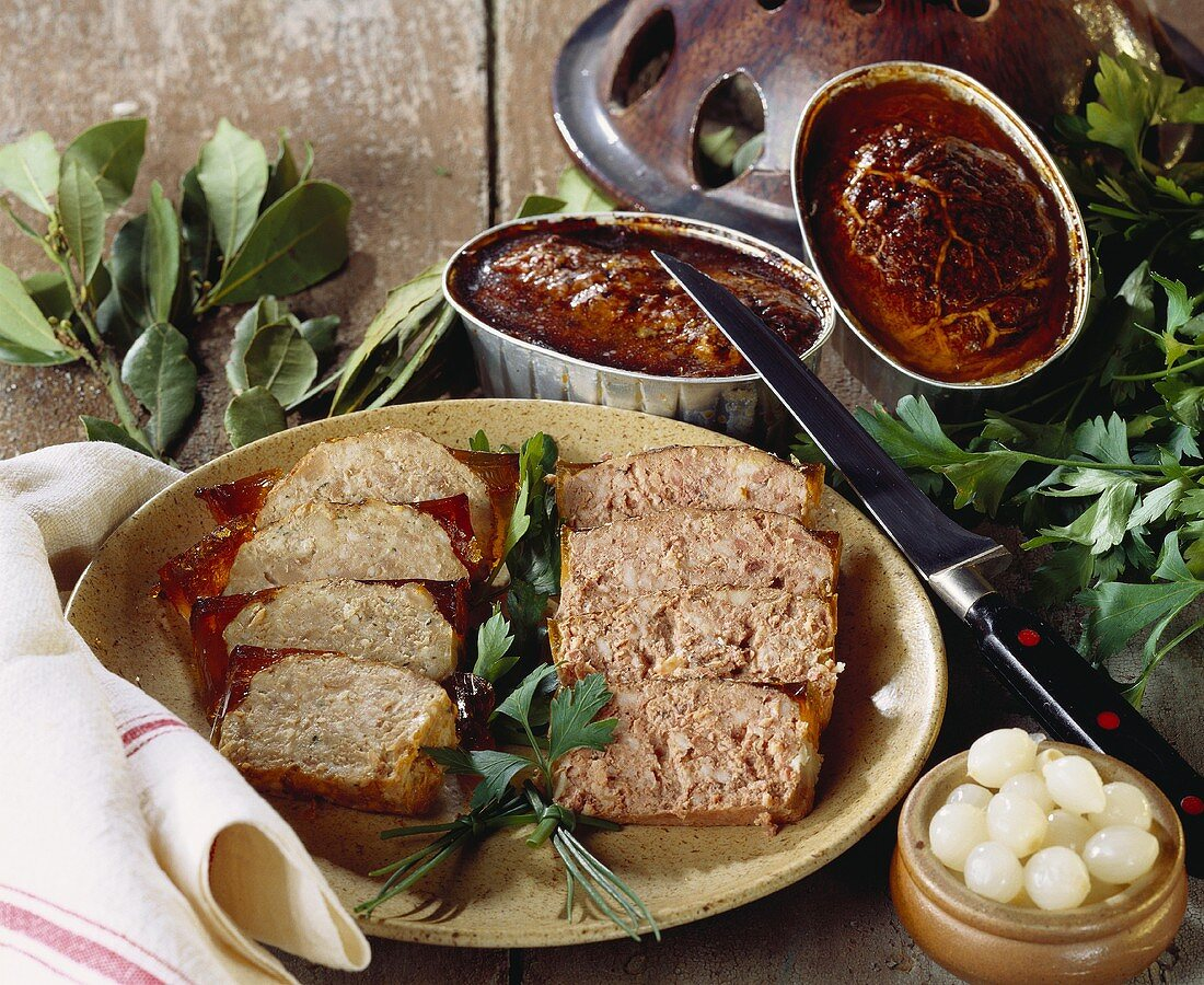 Rabbit and goose liver pate (France)