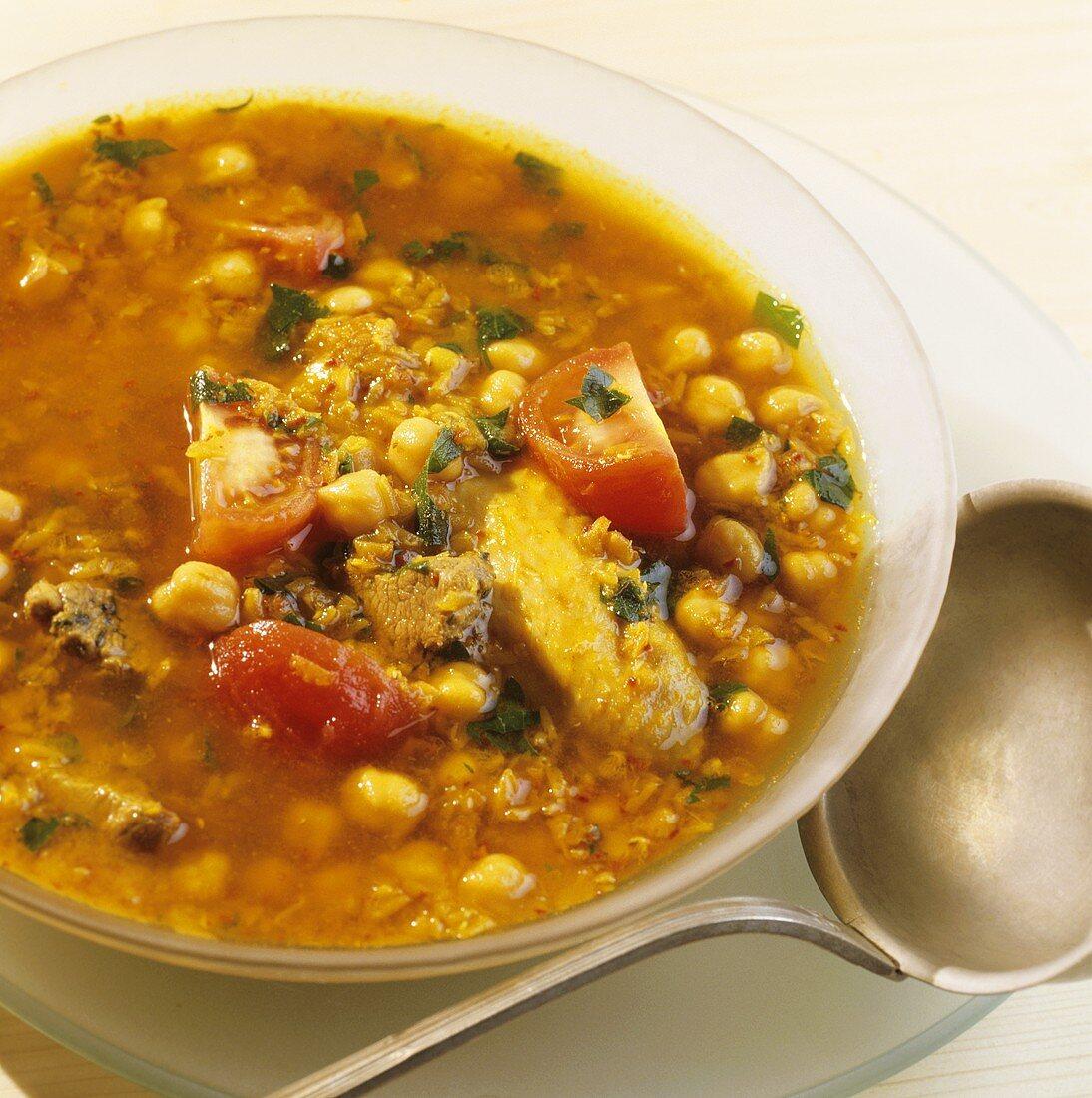 Harira (Ramadan soup; Middle East, Egypt)