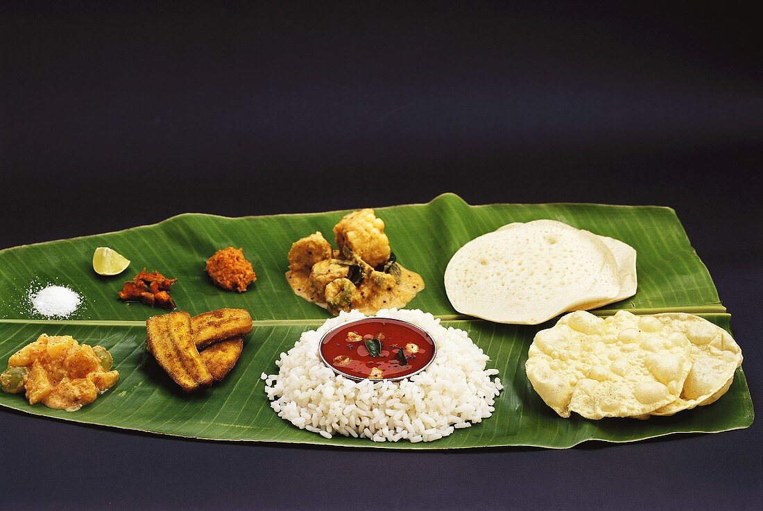 Assorted specialities from the Mangalore region, India