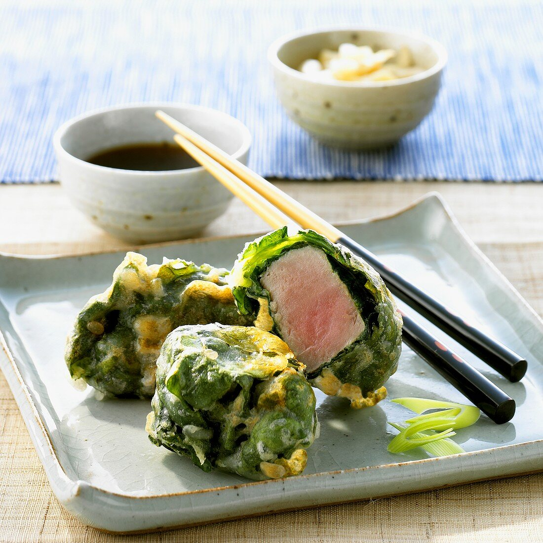 Tuna in tempura batter with soy sauce (Japan)
