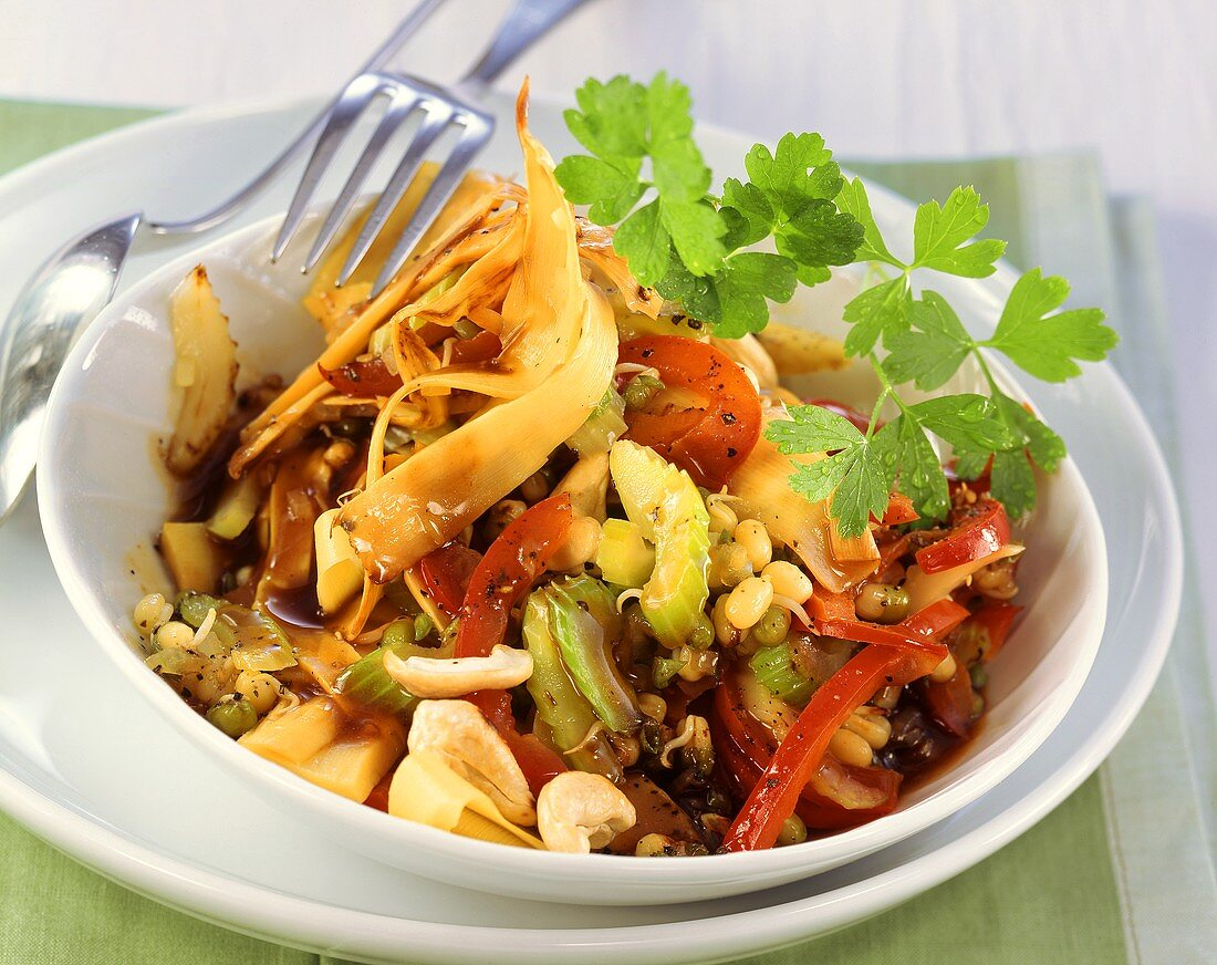 Vegetable chop suey (low glycaemic index)