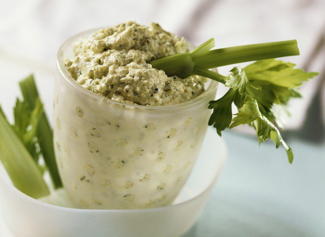 Artichoke cream with feta
