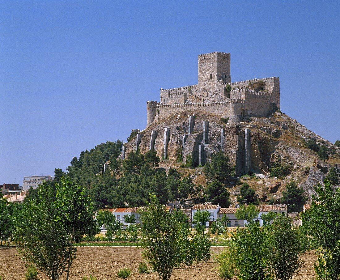 Castillo de Almansa, Albacete, Castilla-La Mancha, Spanien