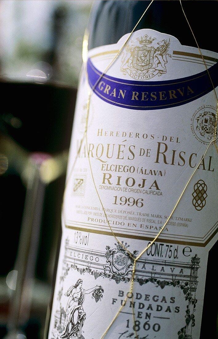 Bottle of 'Marqués de Riscal', 'Gran Reserva 1996', Rioja, Spain