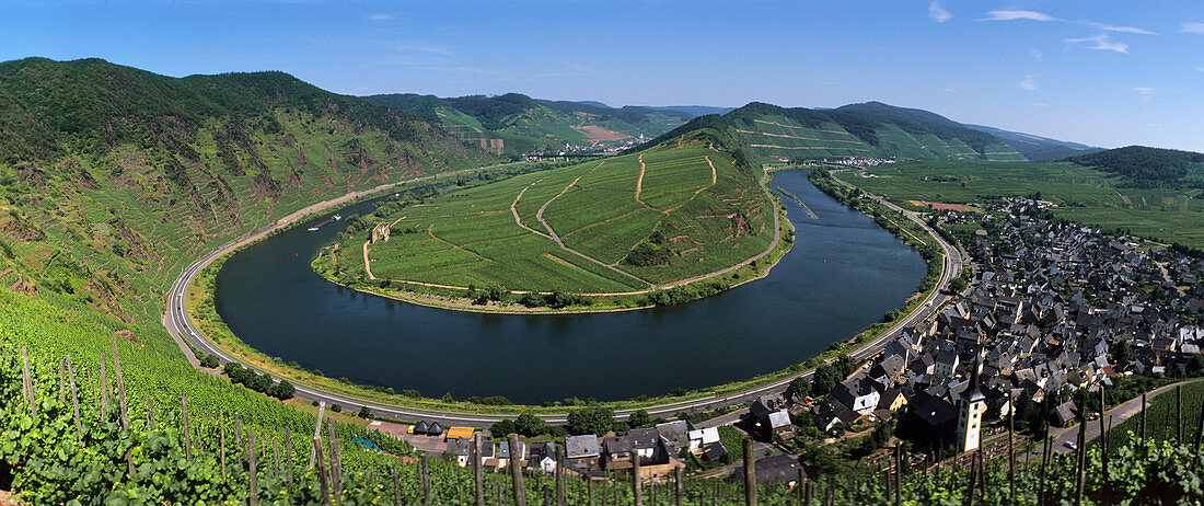 Bremm on the Mosel (Europe's steepest vineyard), Germany