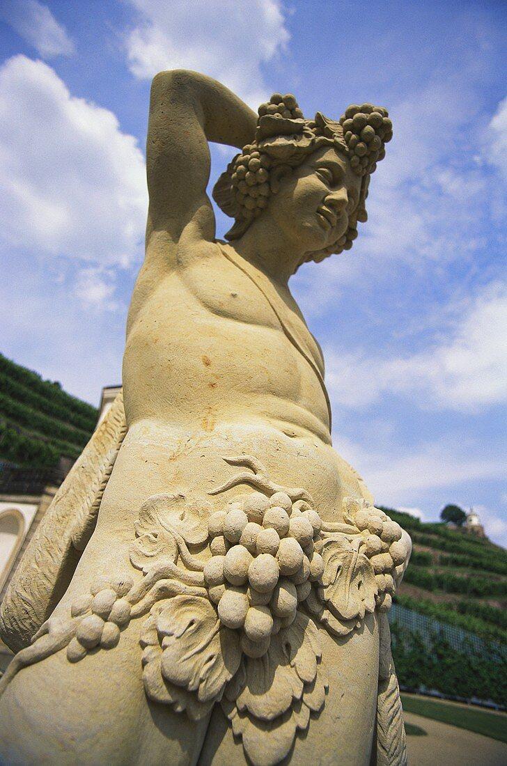 Statue, Schloss Wackerbarth, wine region in northern Saxony