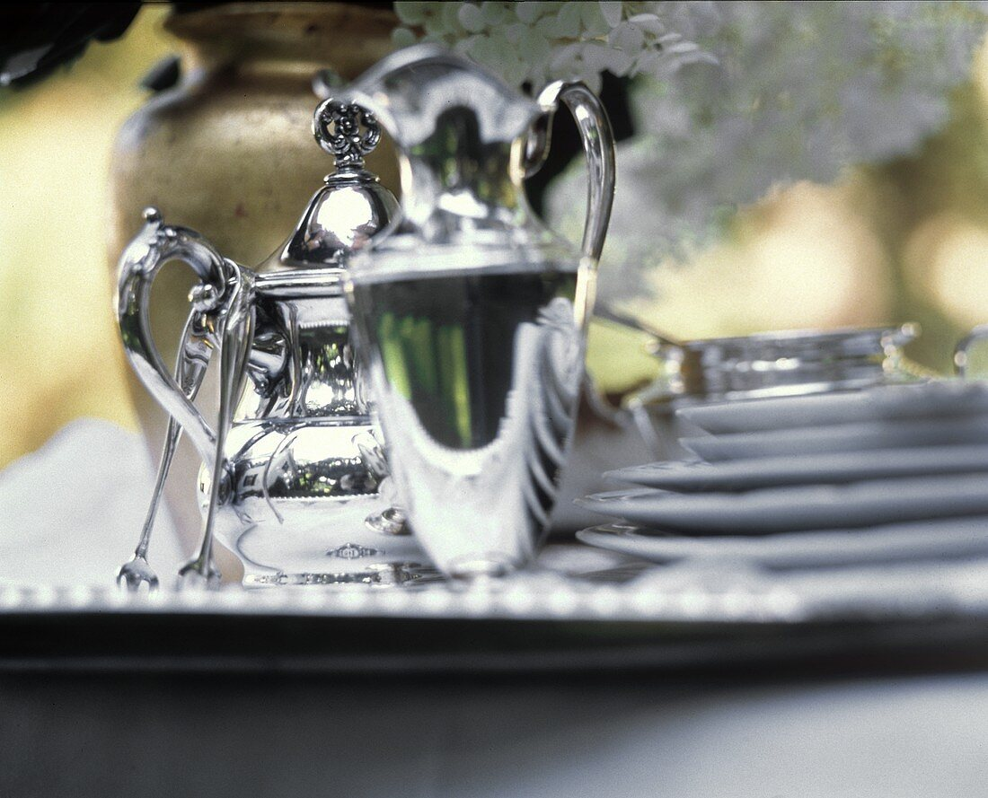 Coffee Service in the Garden