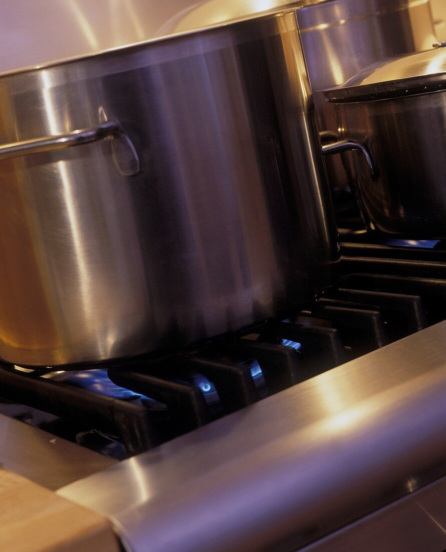 Stock Pot Cooking on the Stove