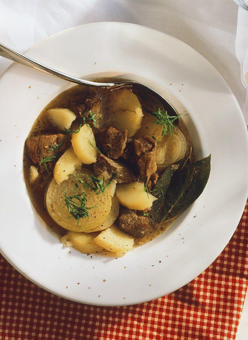 Irish stew - lamb and potato stew with onions