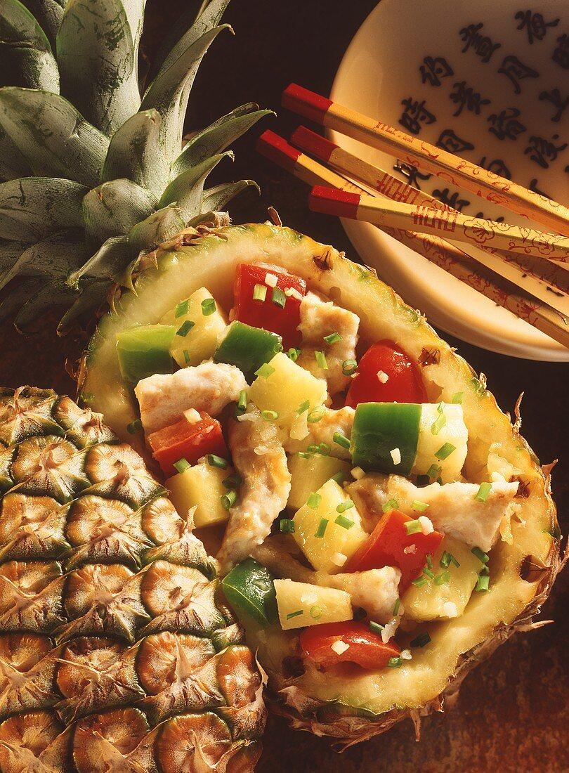Chicken in pineapple