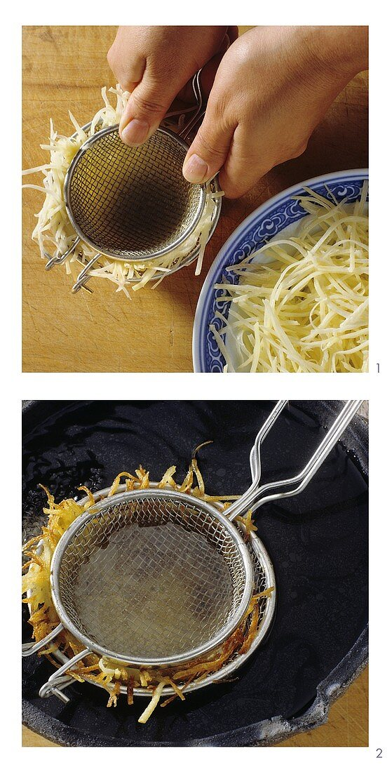 Making potato nest