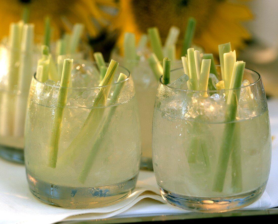 Party drink: Lemon grass Caipirinha