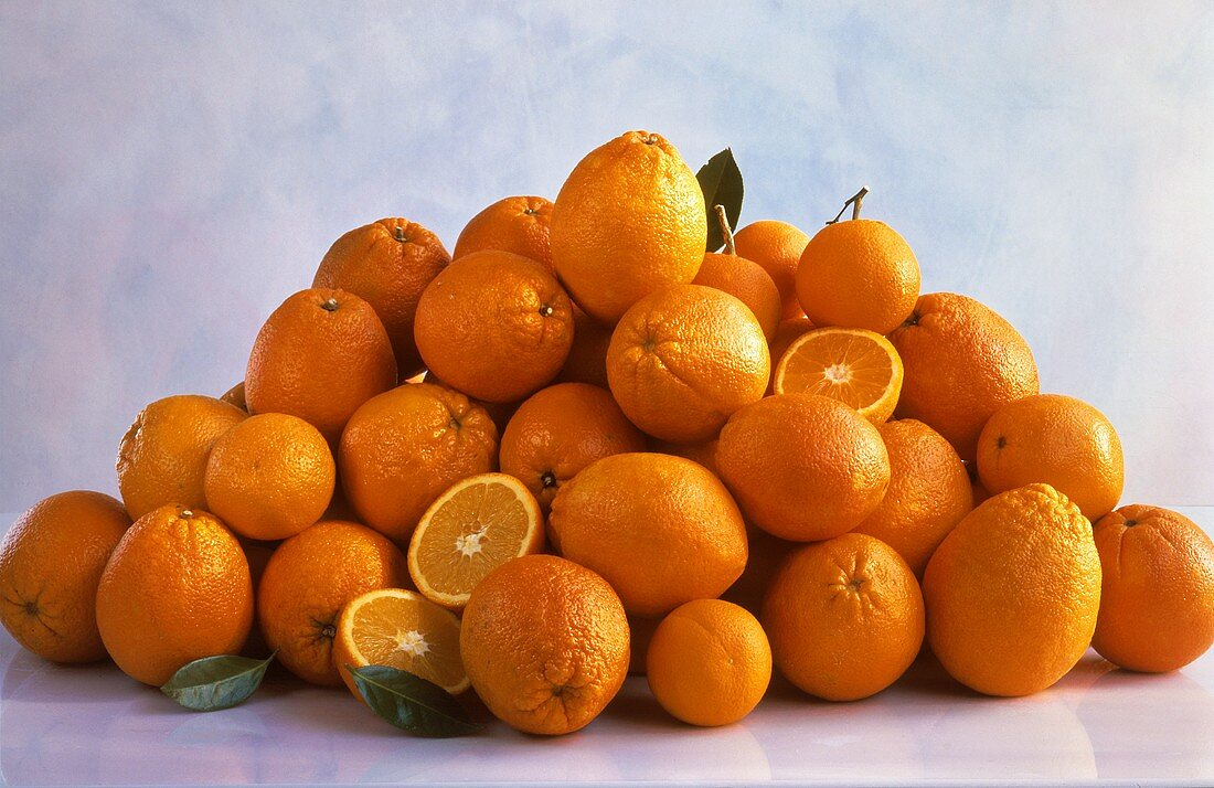 A Pile of Assorted Oranges