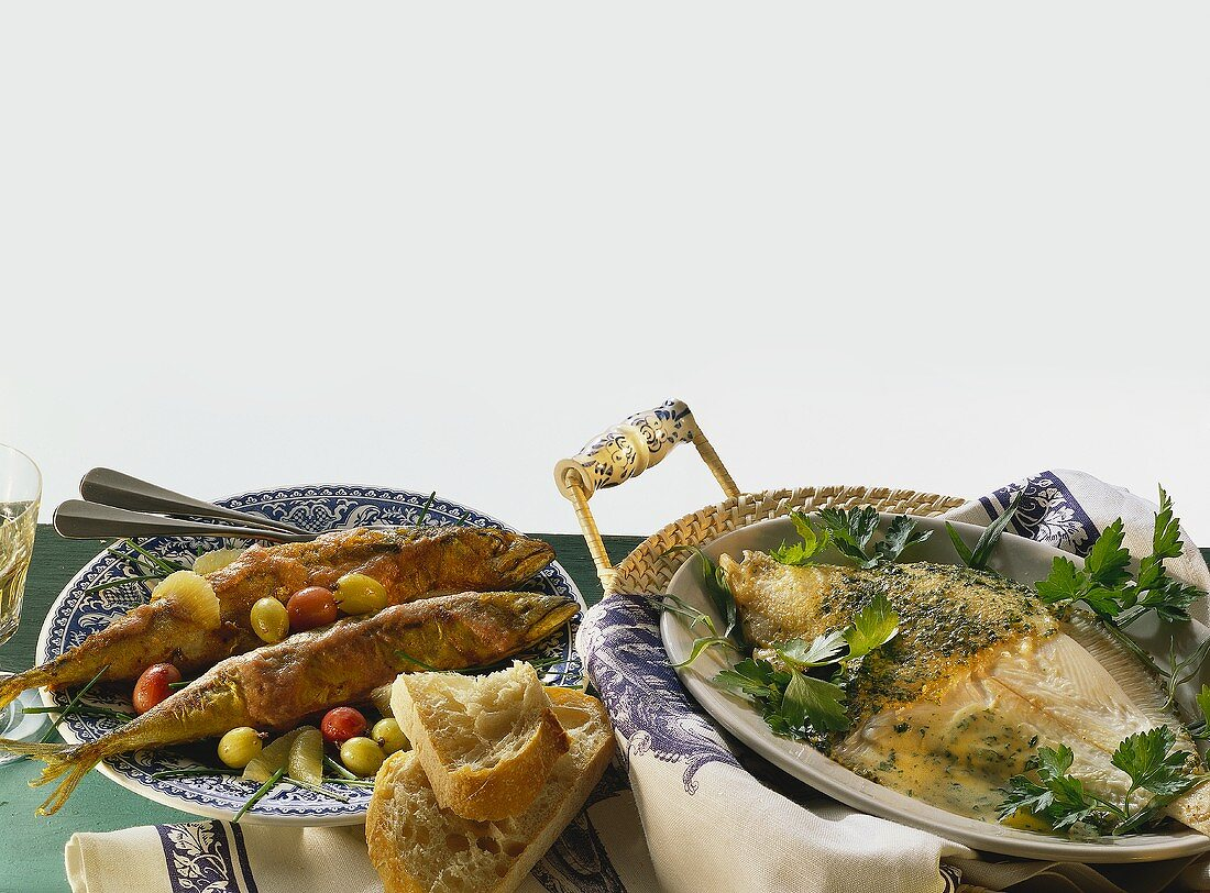 Mackerel with gooseberries; plaice in cider with herbs