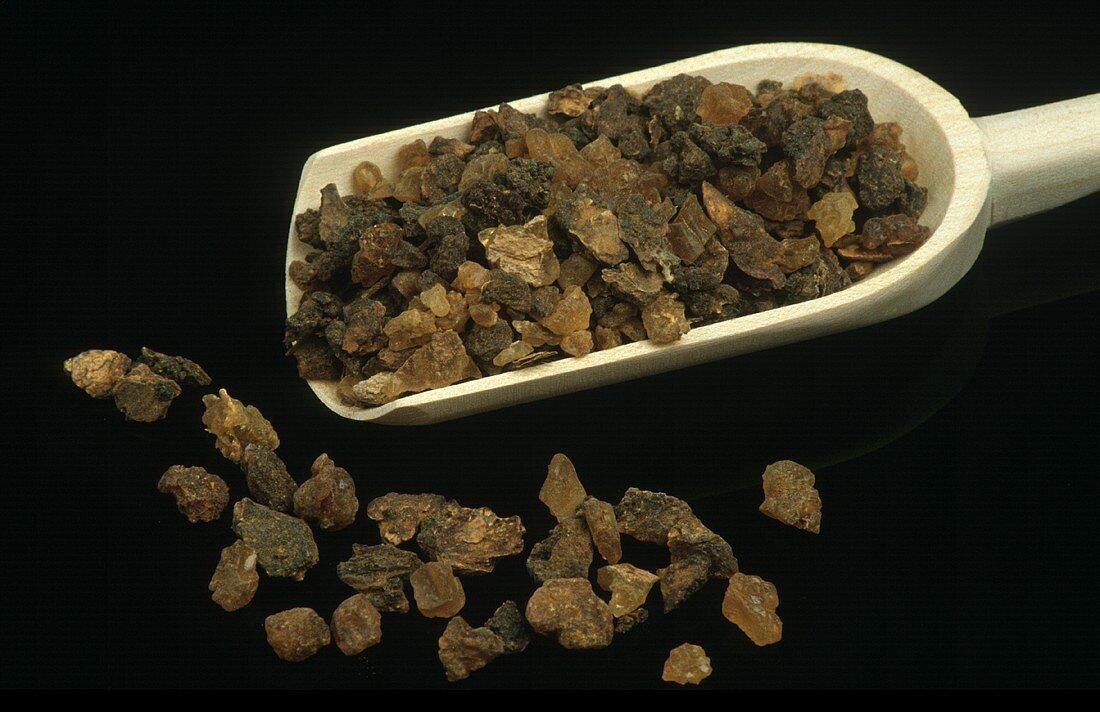 Myrrh beads (resin from the balsam tree)
