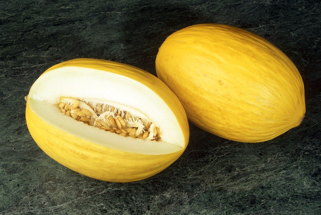 Two Honeydew Melons