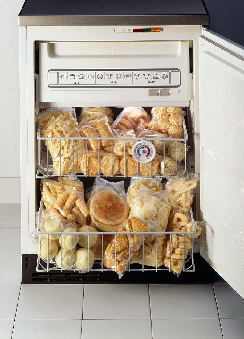 Frozen Food in a Mini Freezer
