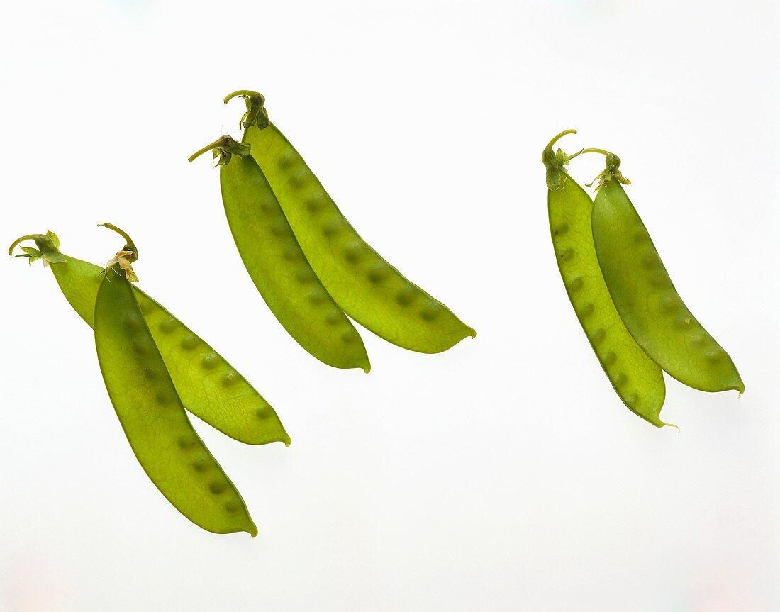 Three pairs of mangetouts