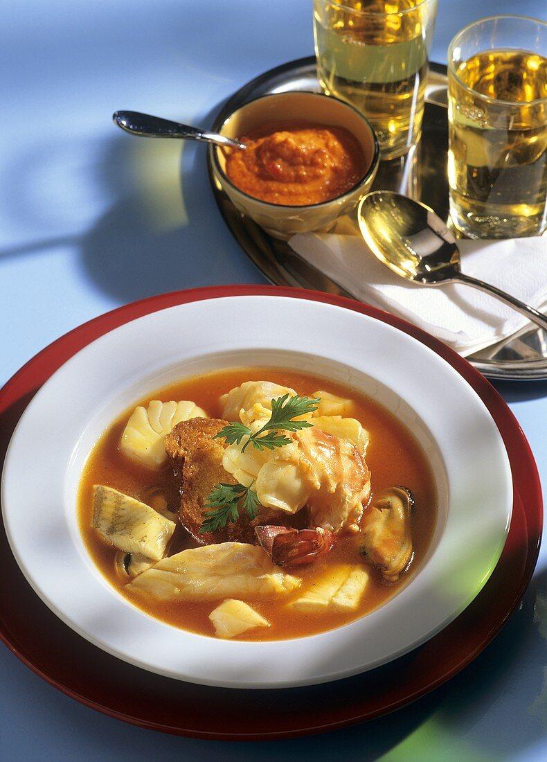 Bouillabaisse (French fish stew)