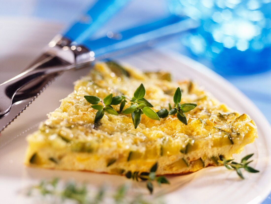 Courgette frittata with fresh thyme