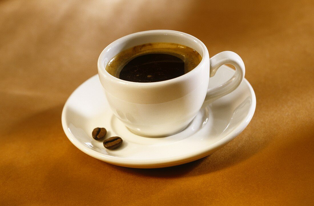 Expresso in a white cup