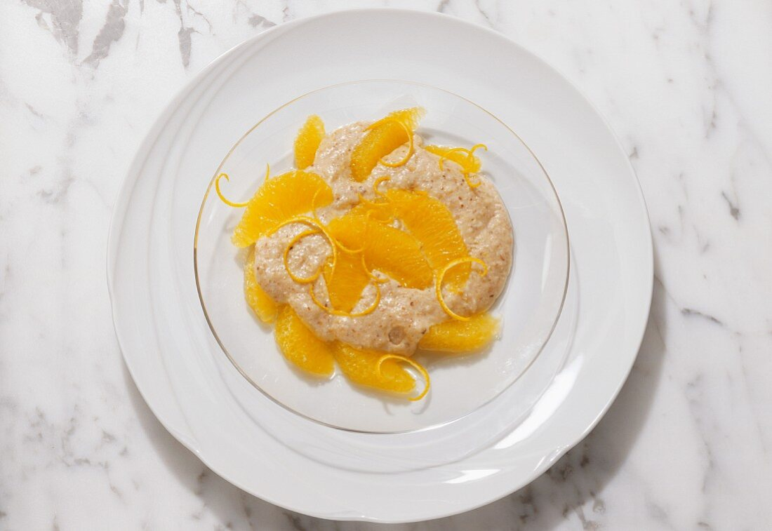 Spelt Mousse with Oranges