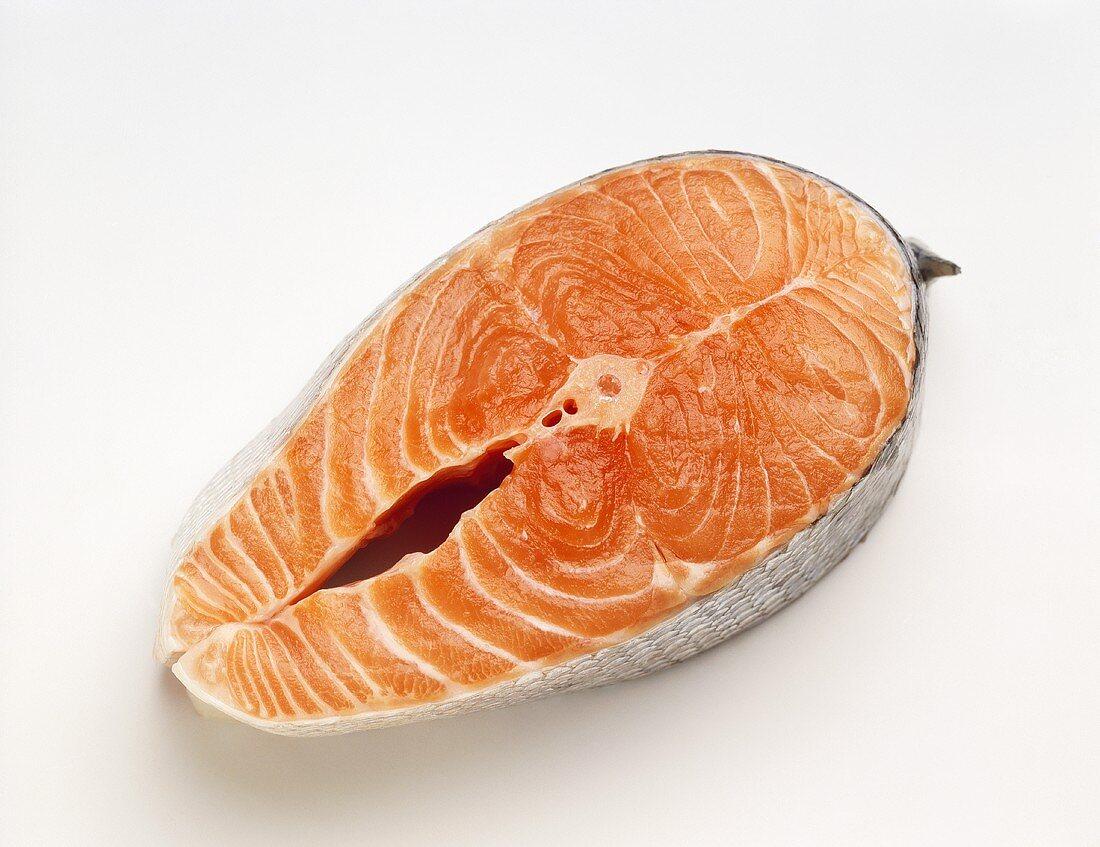 A salmon cutlet