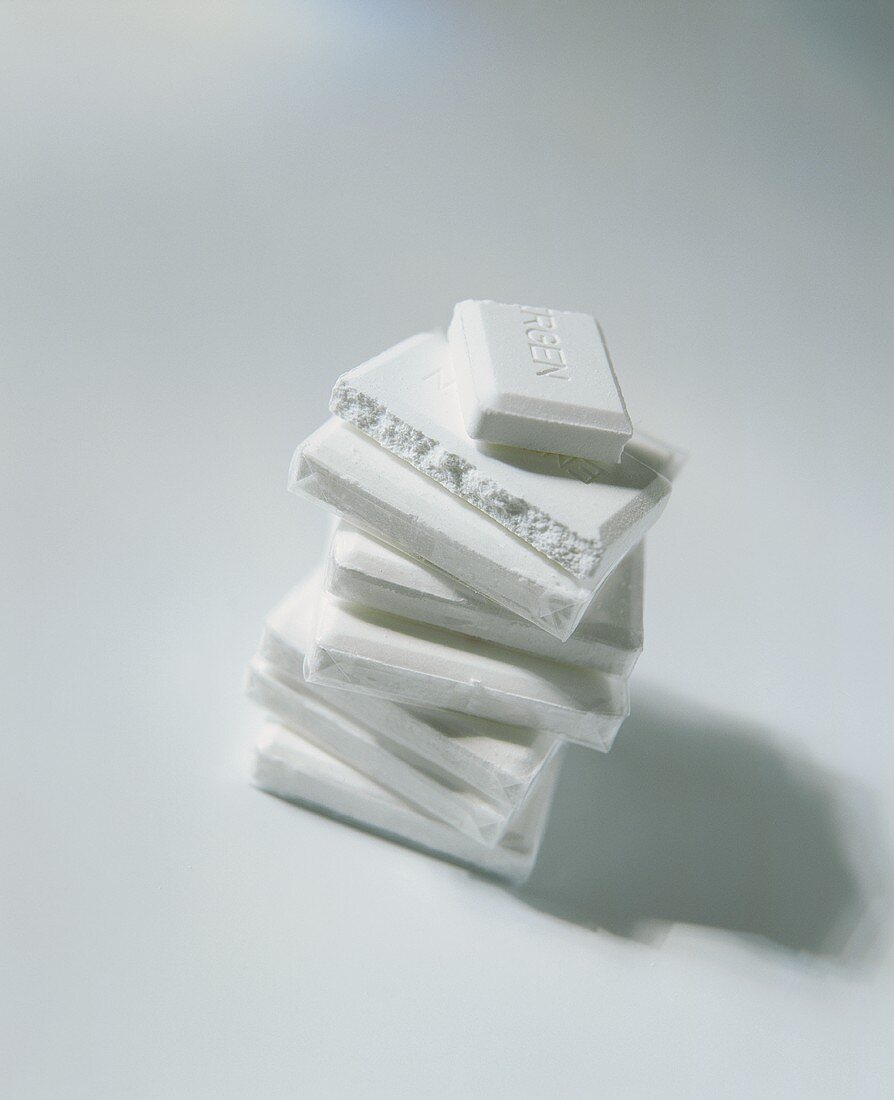 A pile of dextrose on white background