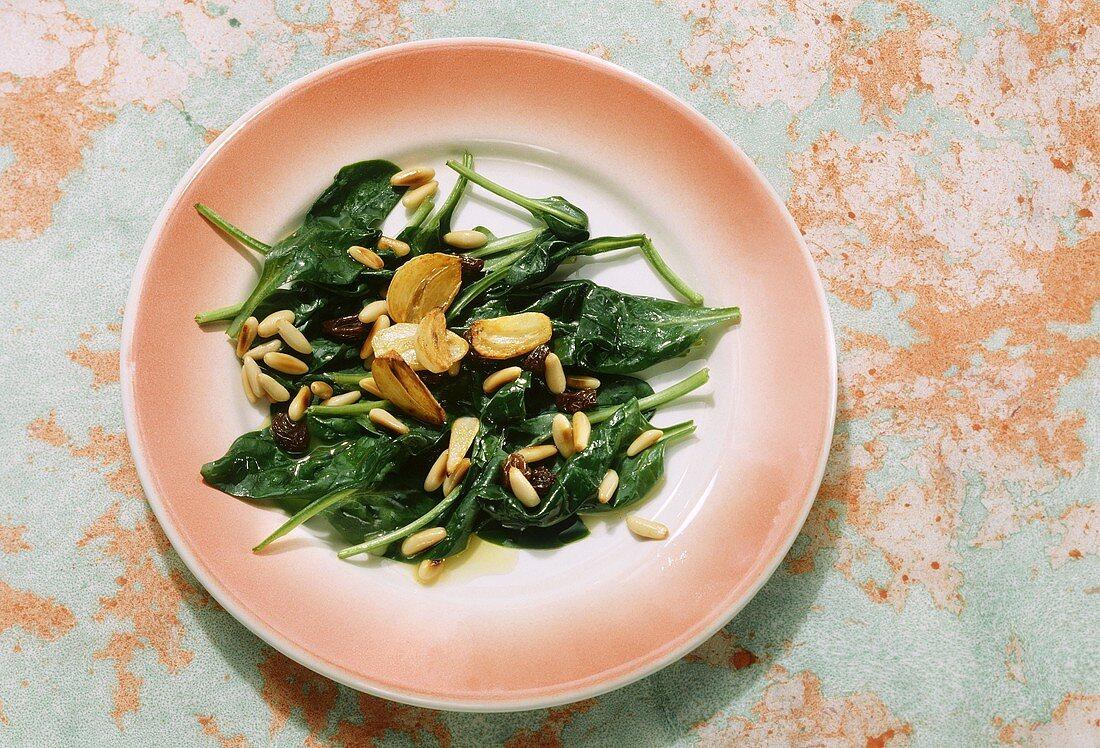 Spinaci alla romana (spinach with raisins), Latium, Italy