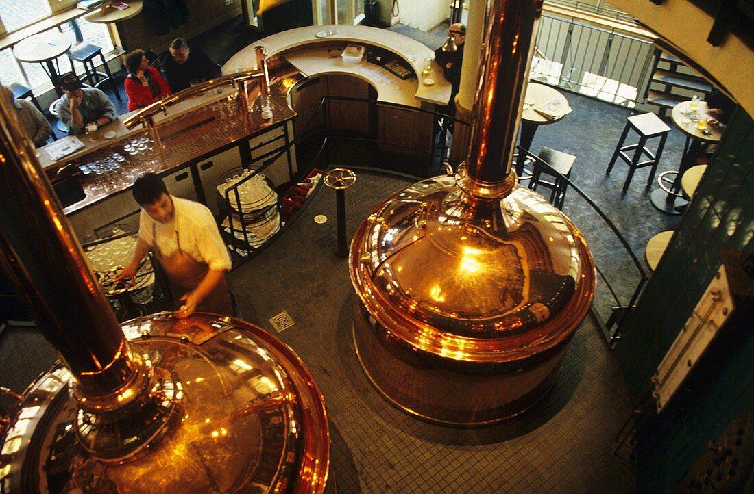 Brewing kettle in Feierling Brewery, Freiburg