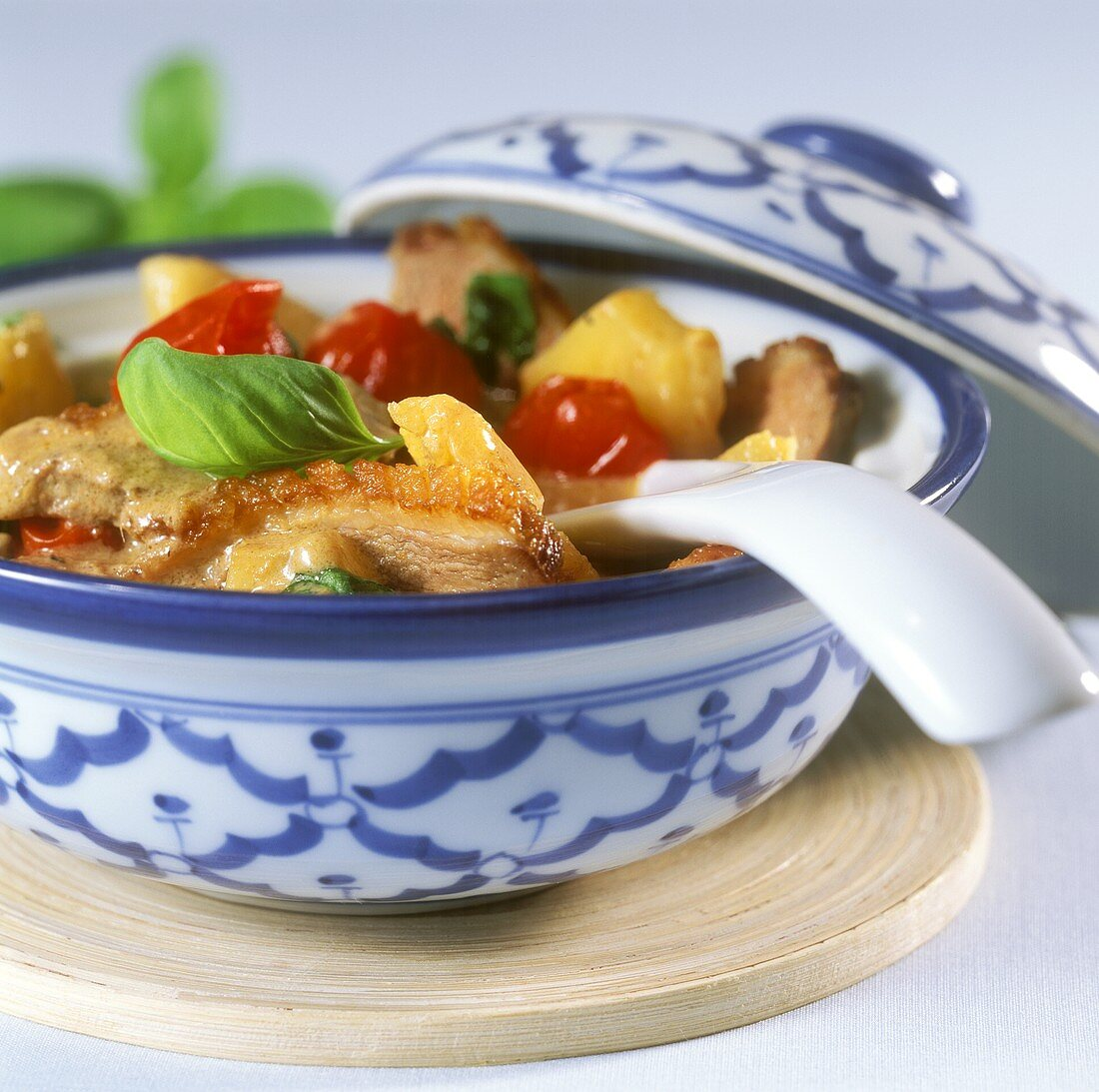 Duck curry with pineapple and cherry tomatoes