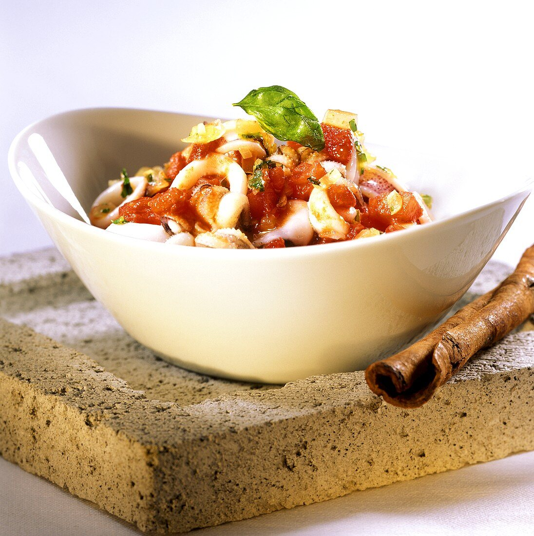 Seppie in umido (cuttlefish ragout with tomatoes & cinnamon)