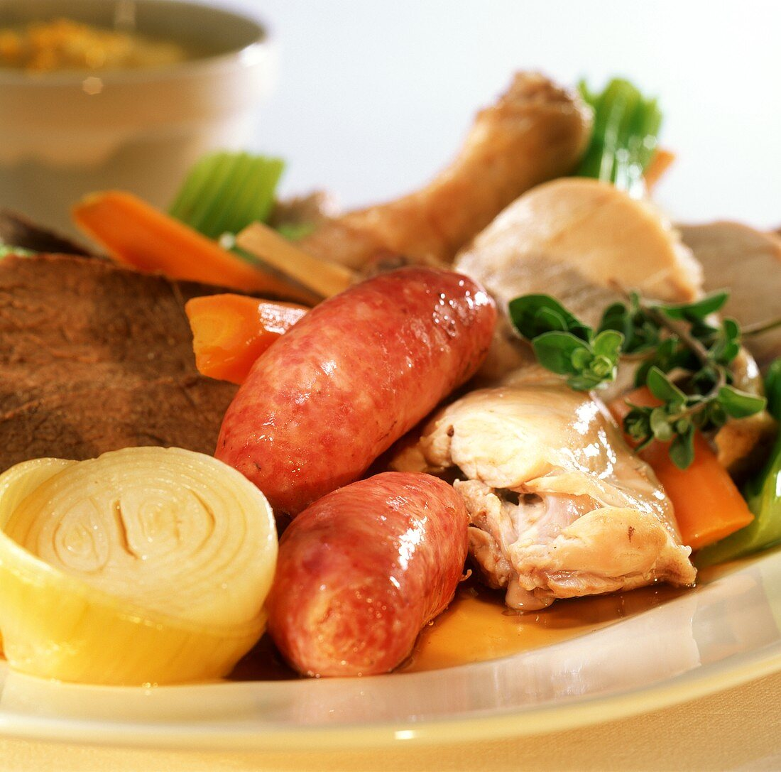 Bollito misto (mixed boiled meat and sausages)
