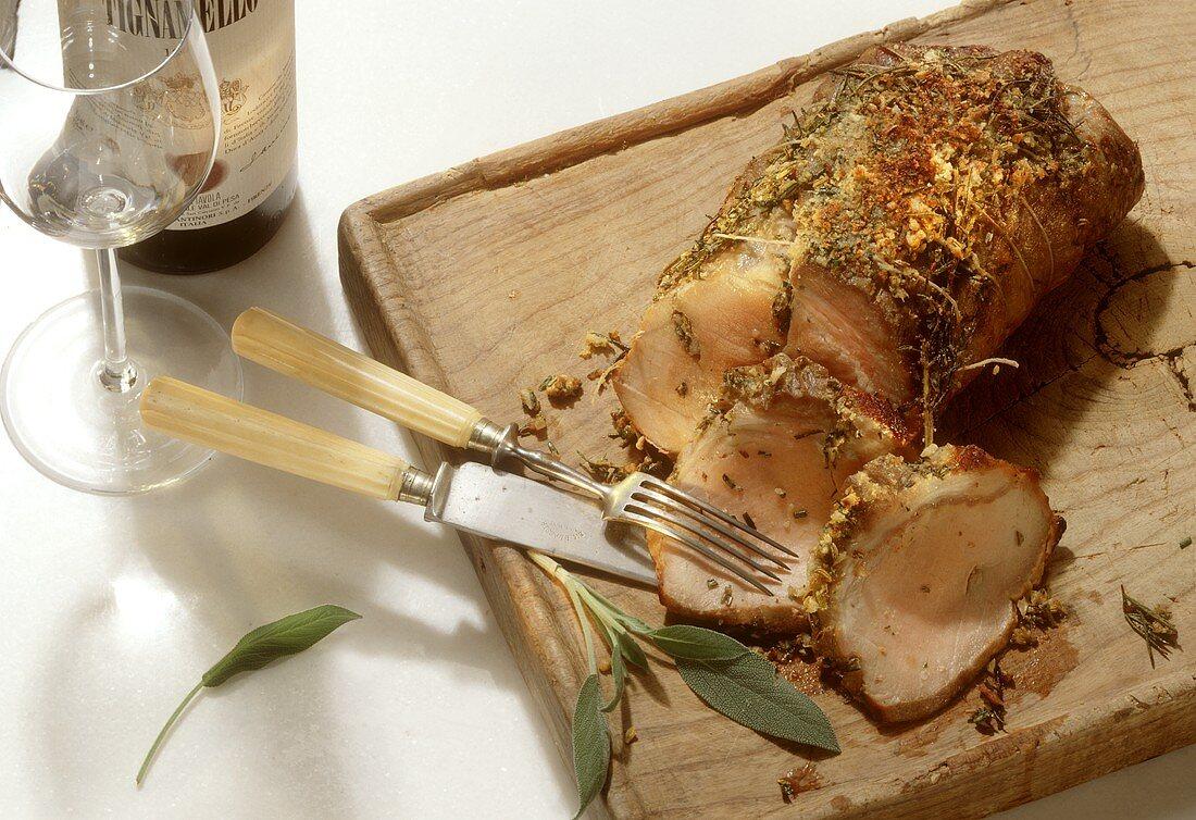 Arista alla fiorentina (roast pork), Tuscany, Italy