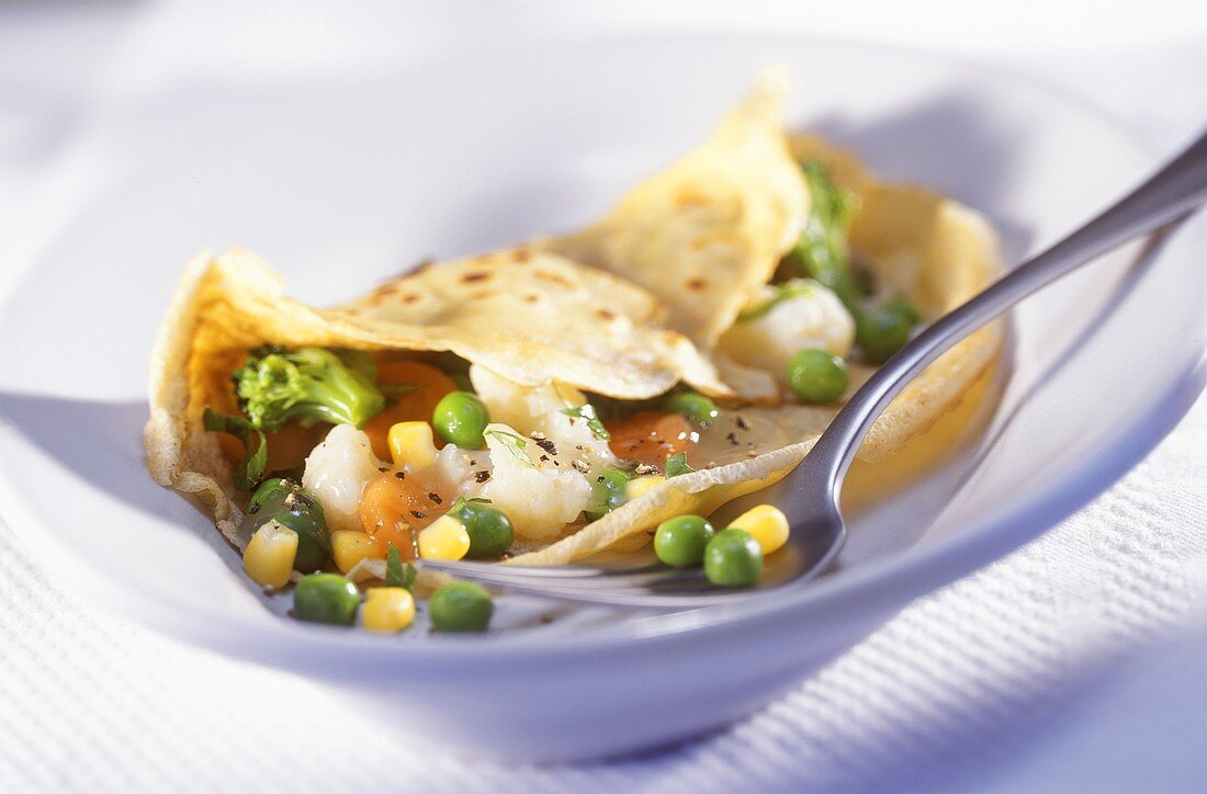 Pancakes with Vegetable Filling