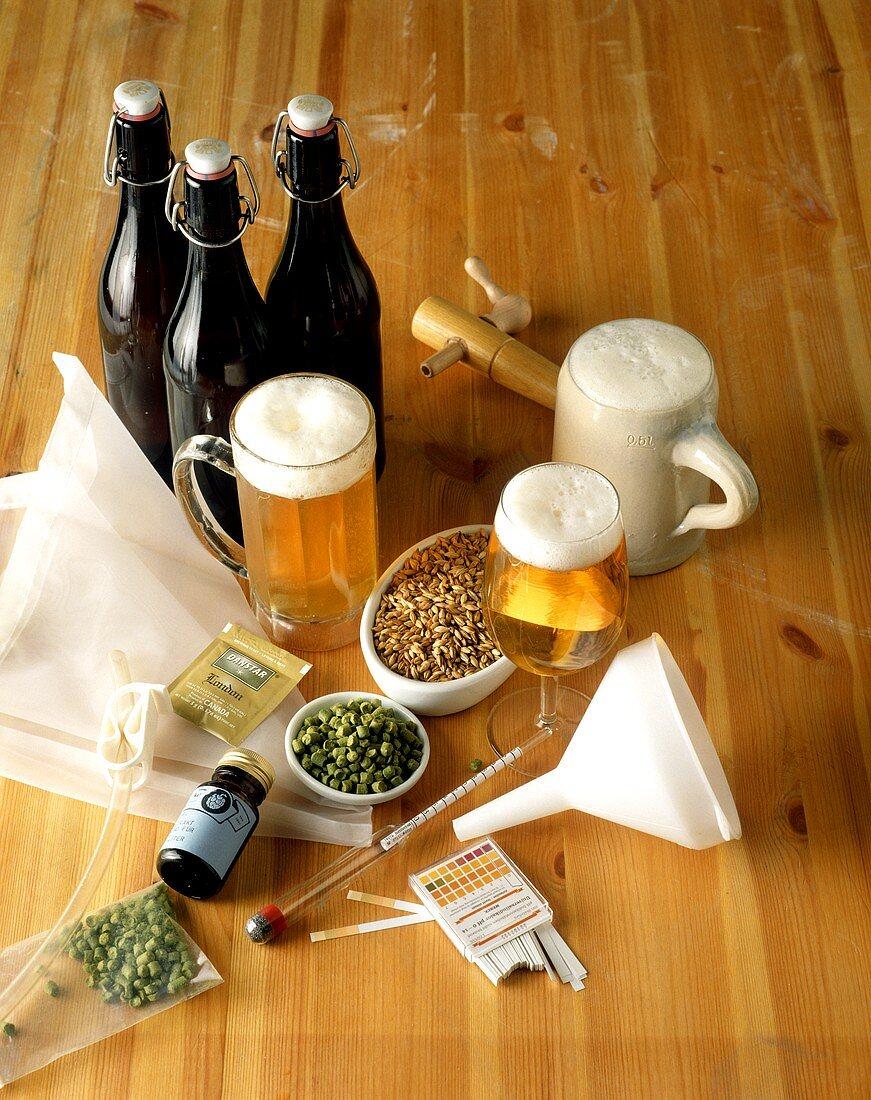 Beer with brewing ingredients