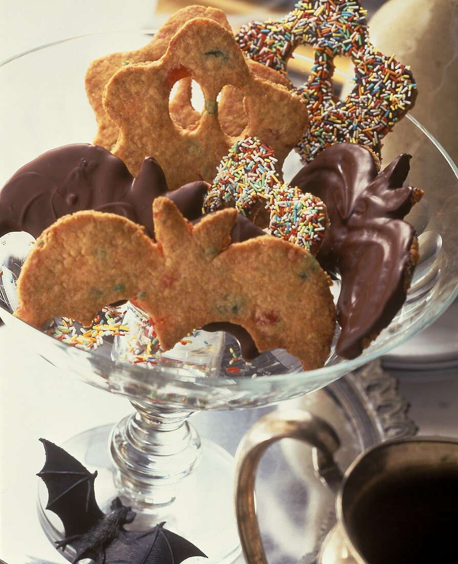 Magical biscuits (in shape of ghosts and bats)