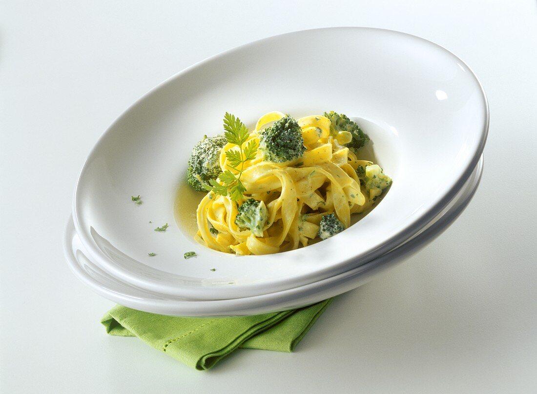 Tagliatelle di Barletta (Ribbon pasta with broccoli & ricotta)
