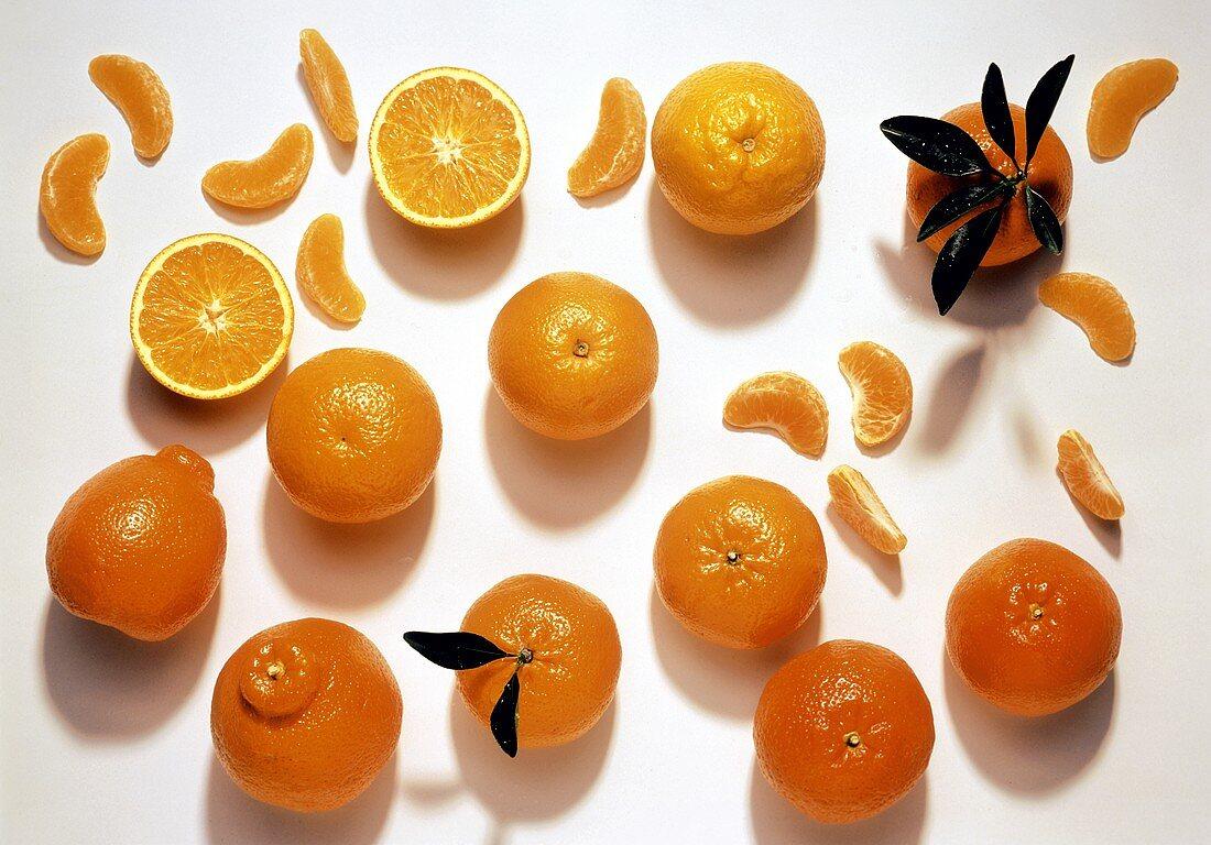 Mandarin oranges (whole, halved and wedges)
