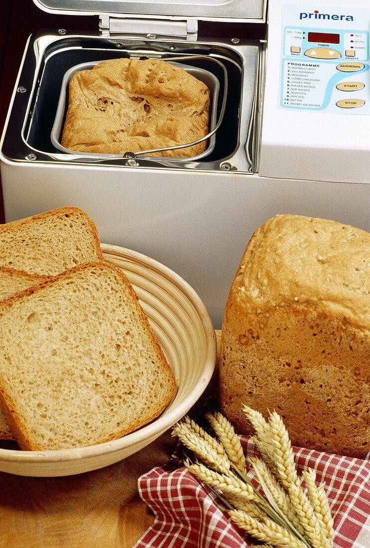 Brot mit Backautomat