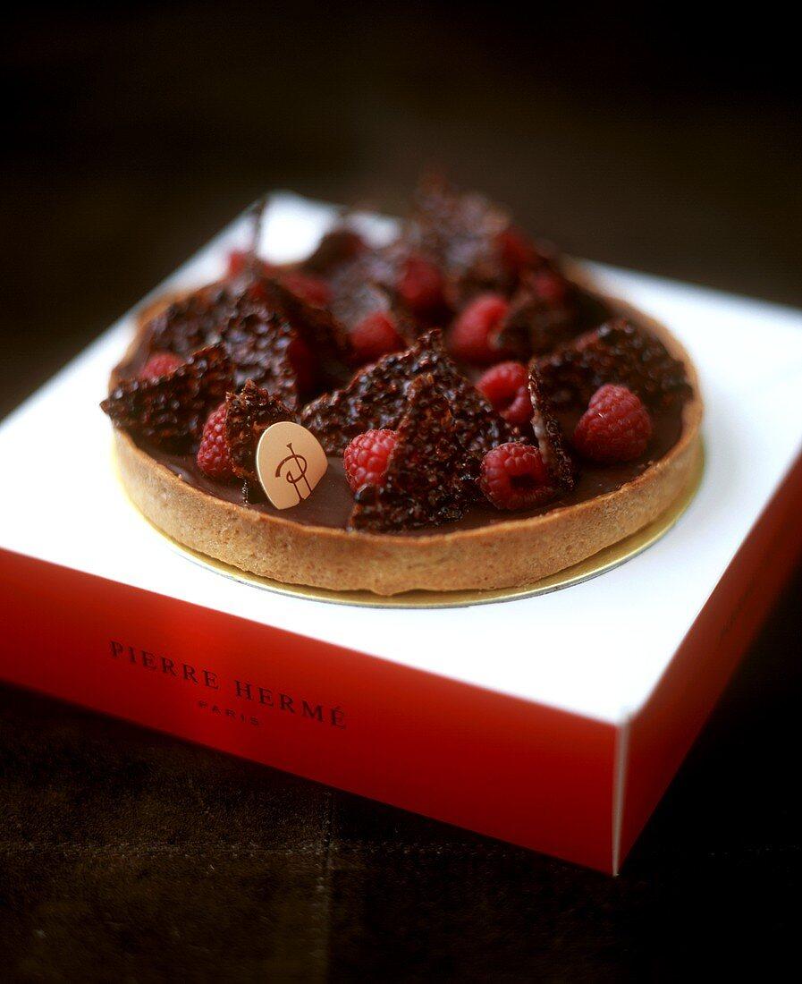 Chocolate and raspberry gateau by Pierre Herme, Paris