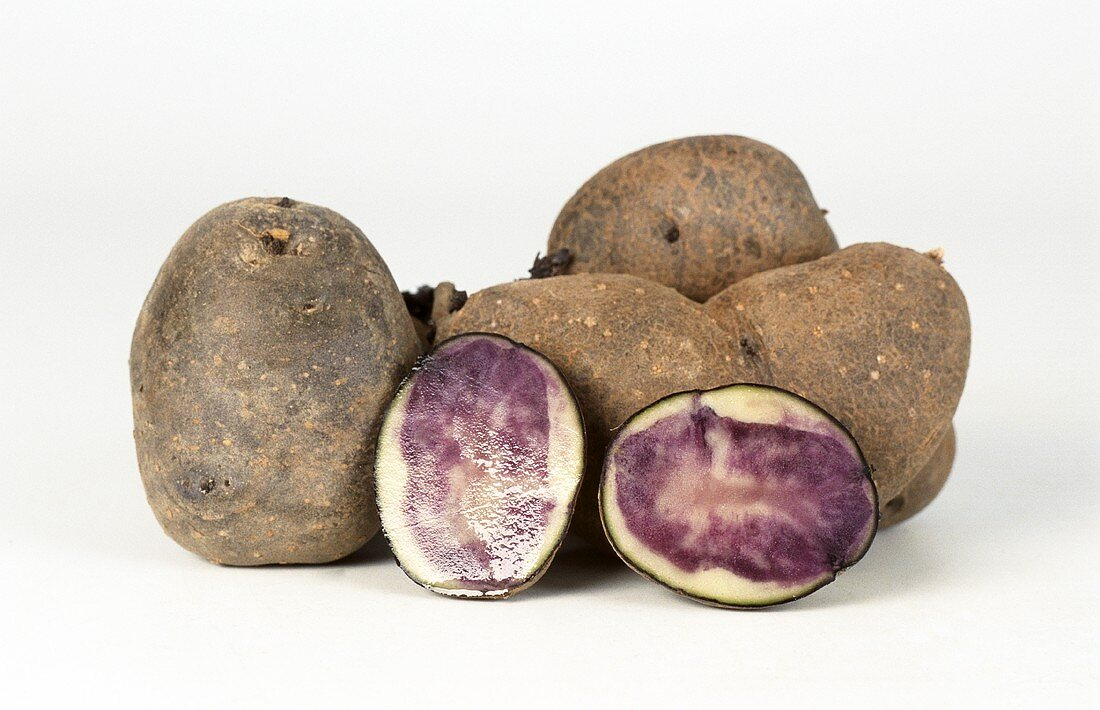 Blue potatoes (ornamental potatoes)
