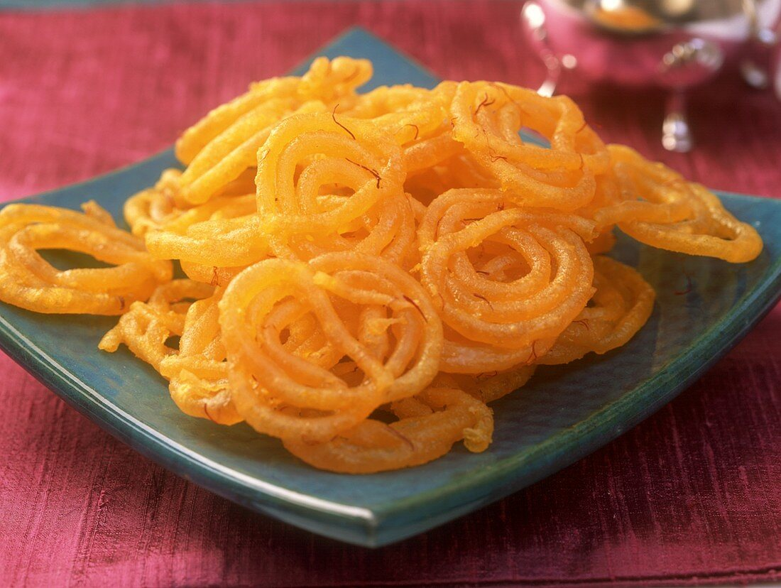 Jalebis (sweet deep-fried pastry spirals, India)