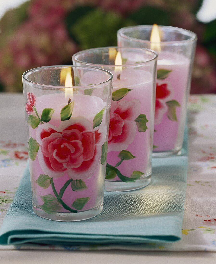 Candles for a summer party