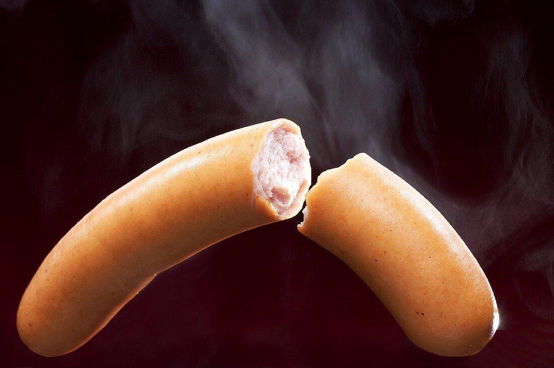 Steaming Bockwurst